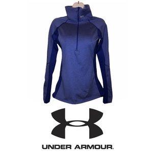 UNDER ARMOUR Women's Coldgear 1/2 Zip Shirt Small